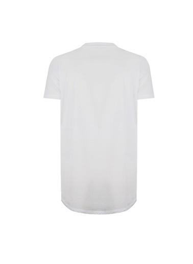 Deux Beautés Leila Bisiklet Yaka T-Shirt Beyaz